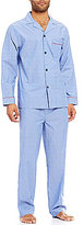 Roundtree & Yorke Long-Sleeve Striped Pajama Set