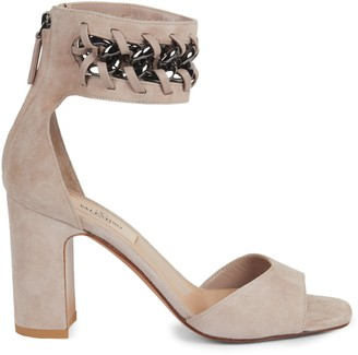 Valentino Suede Open-Toe Ankle-Strap Sandals