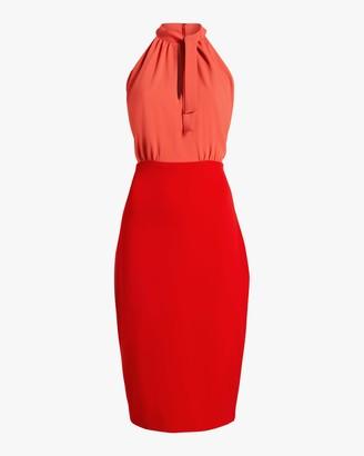 Badgley Mischka Color Block Keyhole Dress