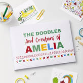 TillieMint Child's Personalised Doodle Drawing Book