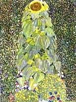 Gustav 1art1 Posters Klimt Poster Art Print - Die Sonnenblume 1905 (32 x 24 inches)