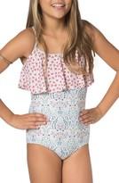 O'Neill Girl's Chica Ruffle One-Piece Swimsuit