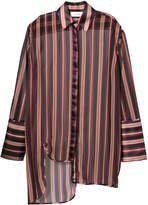 Zimmermann striped asymmetric shirt