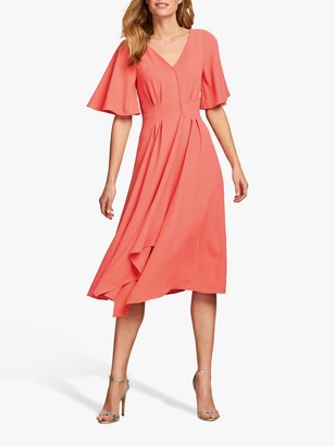 Pure Collection V-Neck Crepe Dress