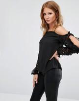 Millie Mackintosh Lace Open Sleeve Blouse