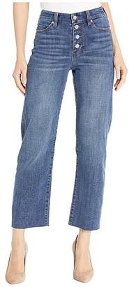 Liverpool Stevie Stovepipe Exposed Button in Latika (Latika) Women's Jeans