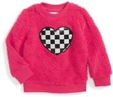 Little Marc Jacobs Toddler Girl's Sequin Heart Fuzzy Sweatshirt