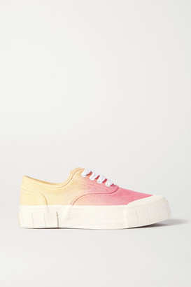 Good News + Net Sustain Ace Ombre Organic Cotton-canvas Sneakers - Yellow