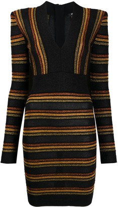Balmain Stripe Pattern Dress
