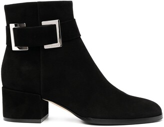 Sergio Rossi Prince side buckle detail boots