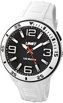 Limit Active Unisex Quartz Watch with Black Dial Analogue Display and White Plastic Strap 5566.24