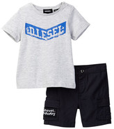 Diesel Tee & Short 2-Piece Set (Baby Boys)