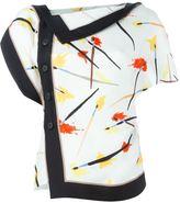 Emilio Pucci side buttoned blouse