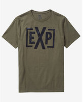 Express olive striped monogram graphic t-shirt