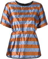 Odeeh striped crinckled top