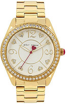 Betsey Johnson Heart Analog Bracelet Watch