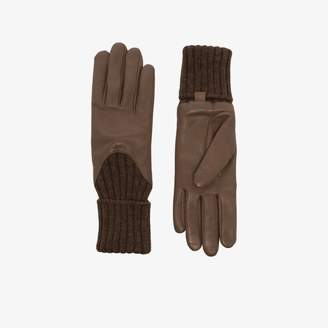 Agnelle Womens Brown Cecilia Leather Gloves