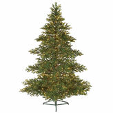 Asstd National Brand 7.5' Pre-Lit Layered Balsam Artificial Christmas Tree with Clear Lights