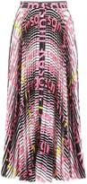 MSGM Mixed Print Pleated Skirt