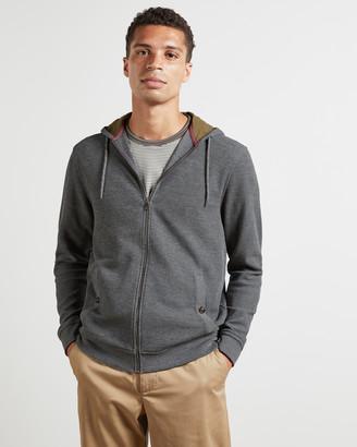 Ted Baker HANGRY Zip up ribbed hoodie