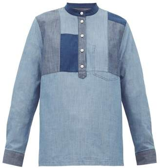 A.P.C. Isaure Patchwork Cotton Chambray Shirt - Womens - Denim