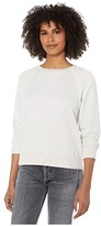 Cupcakes And Cashmere Mandi French Terry Crew w/ Reversed Yoke (Heather Oatmeal) Women's Clothing