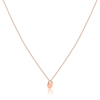 Lily Flo Jewellery Dot Solid Rose Gold Pendant Necklace