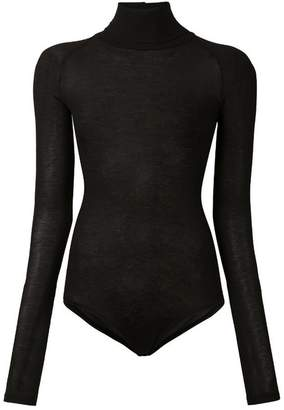 Alix Varick Ribbed Turtleneck Bodysuit