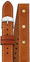 Michele Studded Double Wrap Leather Watch Strap, 16mm