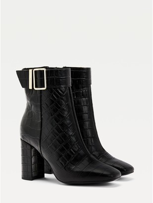 Tommy Hilfiger Croc Heeled Boot