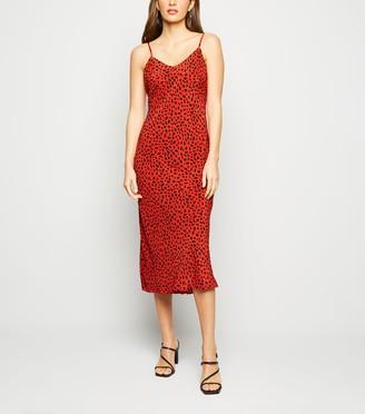 New Look Leopard Print Midi Slip Dress