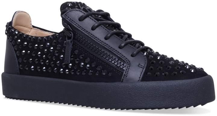 Giuseppe Zanotti Stud Embellished Low Top Sneakers