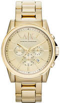 Armani Exchange Gold tone Chronograph on Bracelet