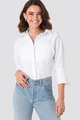 NA-KD Pocket Detail Shirt White