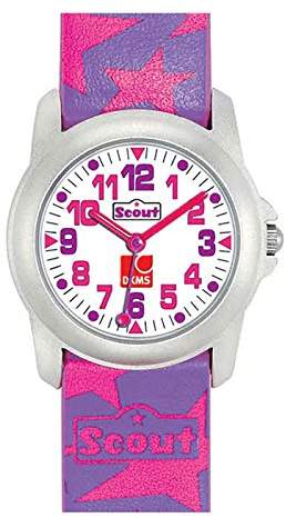 Scout girls' wrist watch, analogue quartz, faux leather 280307000