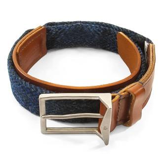 Anchor & Crew Highland Blue Harris Tweed Calway Leather & Nickel Belt