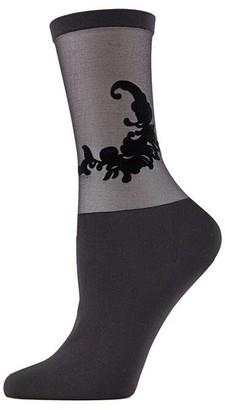 Natori Feathers Sheer Crew Socks