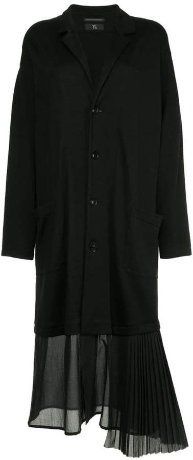 Y's pleated hem coat