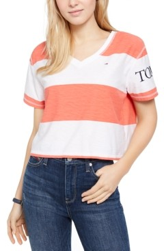 Tommy Jeans Striped Cropped T-Shirt