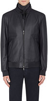 Brioni Men's Grained Leather Bomber Jacket