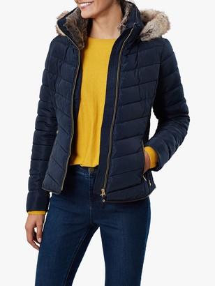 Joules Gosway Chevron Padded Detachable Hood Jacket