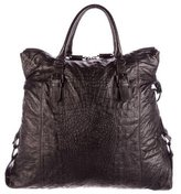 Thomas Wylde Embossed Leather Satchel