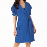 Click to view all Ted Baker Ted Baker Womens Summa Oversized Wrap Dress With Belt Bright Blue