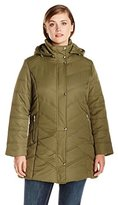 Big Chill Women's Plus-Size Mid-Length Puffer Coat