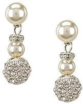 Cezanne Fireball & Faux-Pearl Double-Drop Earrings