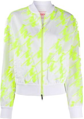 Iceberg Neon Panel Bomber Jacket