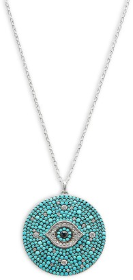 GABIRIELLE JEWELRY Sterling Silver, Turquoise & Crystal Necklace