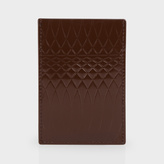 Paul Smith No.9 - Chocolate Brown Patent Leather Credit Card Holder