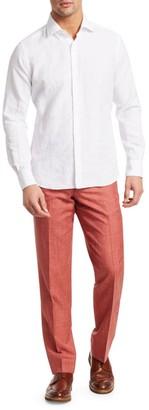 Saks Fifth Avenue COLLECTION Wool, Silk & Linen Flat-Front Dress Pants