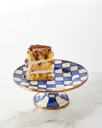 Mackenzie Childs Royal Check Pedestal Mini Platter